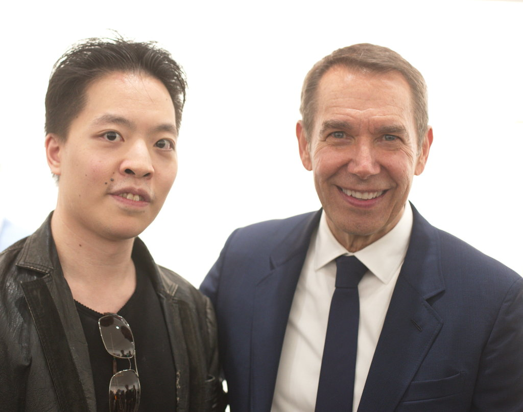 香港畫家Law Cheuk Yui 羅卓睿 Michael Andrew Law 與著名藝術家 傑夫·昆斯 Jeff Koons