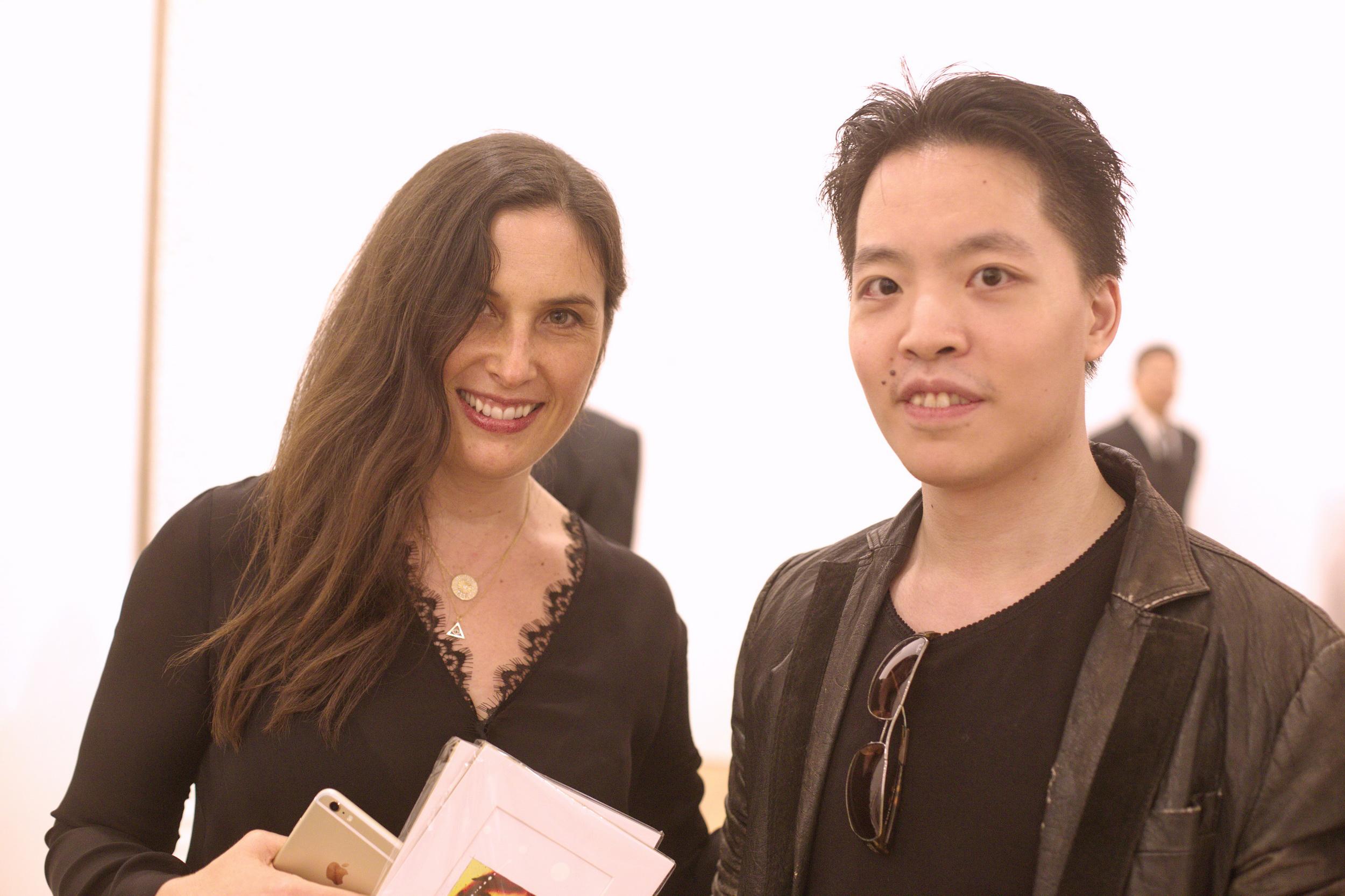 羅卓睿 Michael Andrew Law 與著名藝術家 Jennifer Guidi 珍妮弗·圭迪