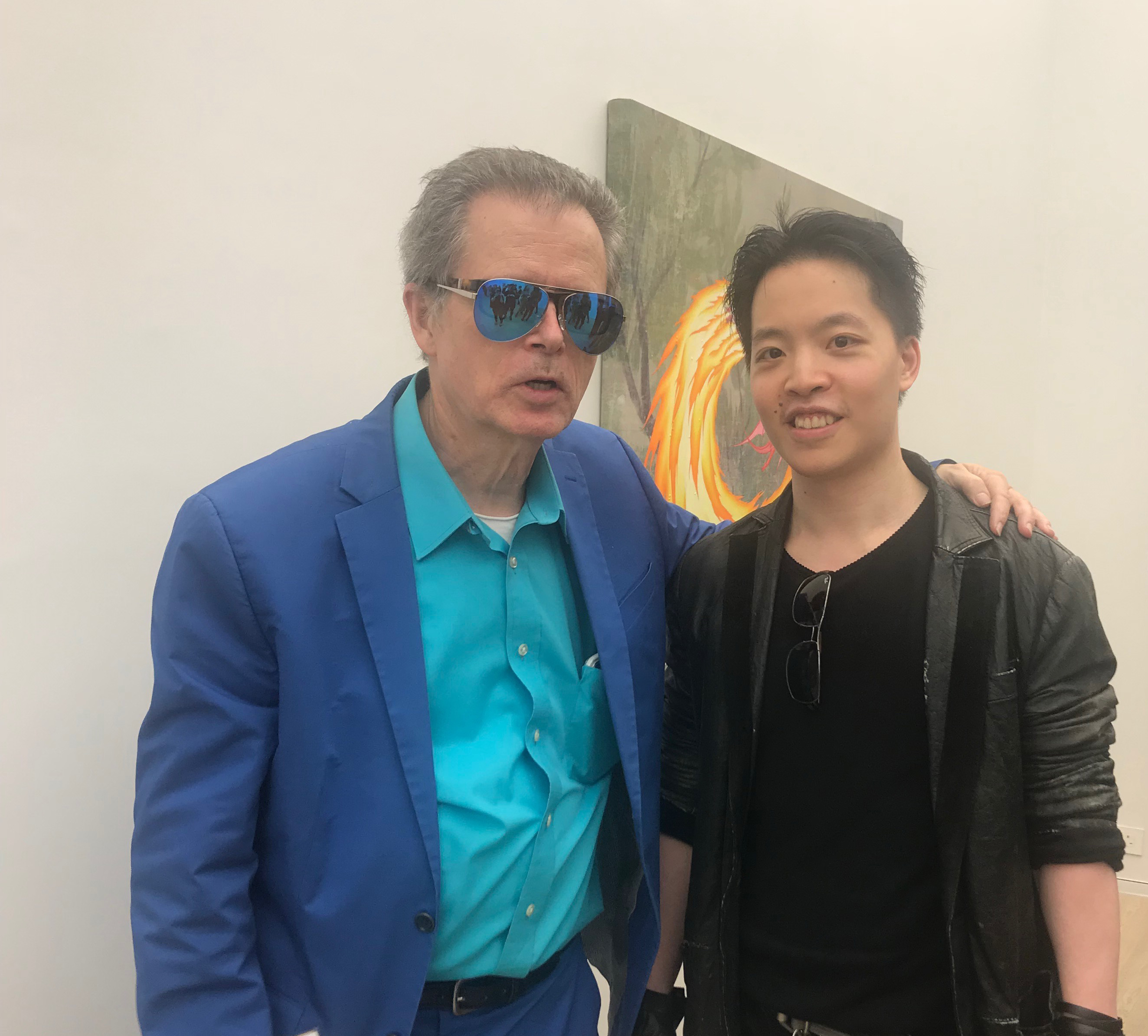 羅卓睿 Michael Andrew Law Cheuk Yui 與著名藝術家 JIM SHAW 吉姆·蕭爾