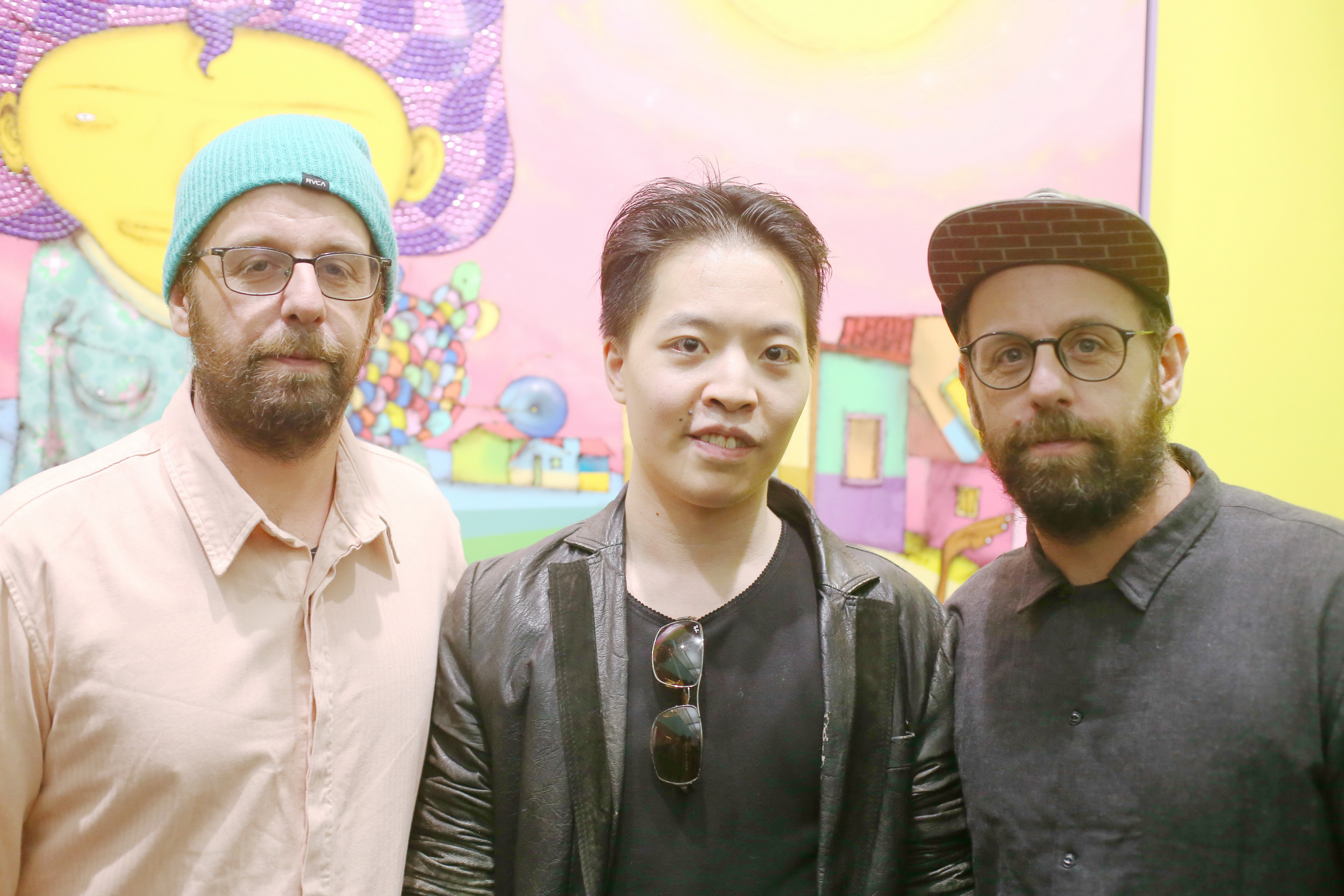 羅卓睿 Michael Andrew Law Cheuk Yui 與著名藝術家 OSGEMEOS Otavio Pandolfo and Gustavo Pandolfo