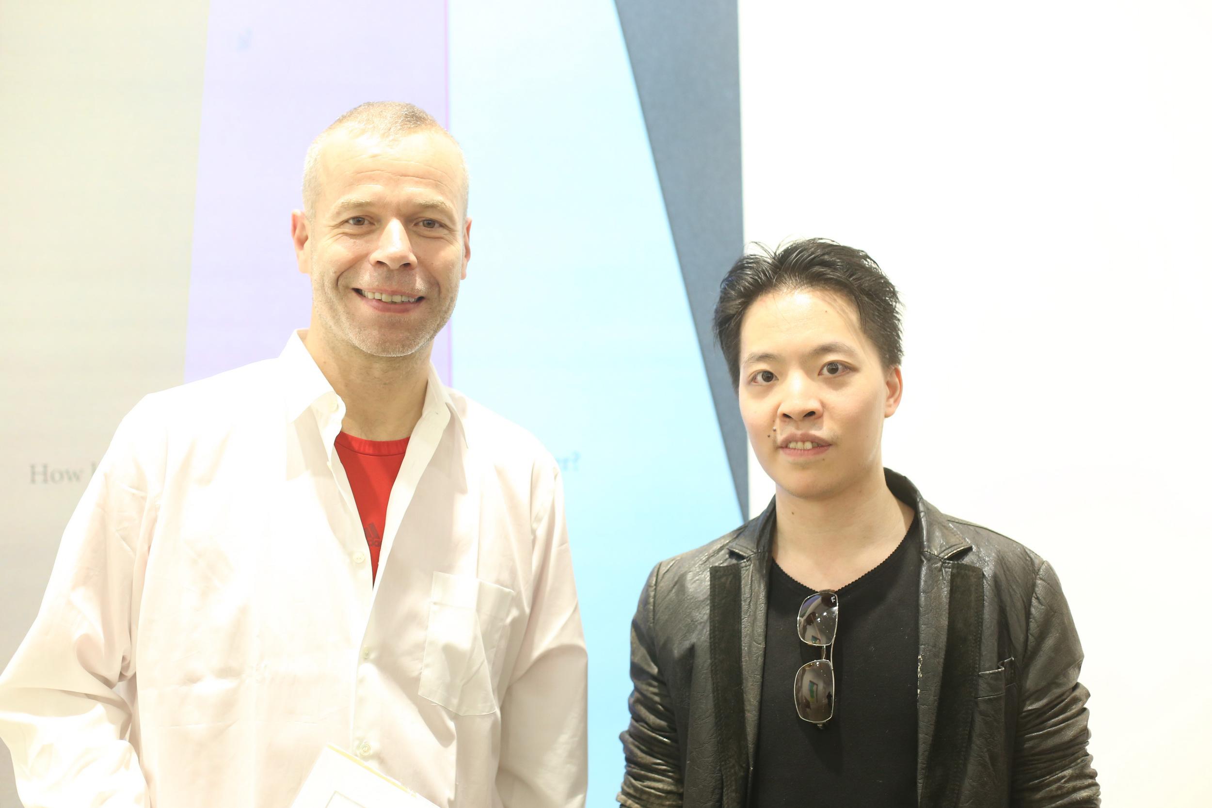 羅卓睿 Michael Andrew Law Cheuk Yui 與著名藝術家 Wolfgang Tillmans