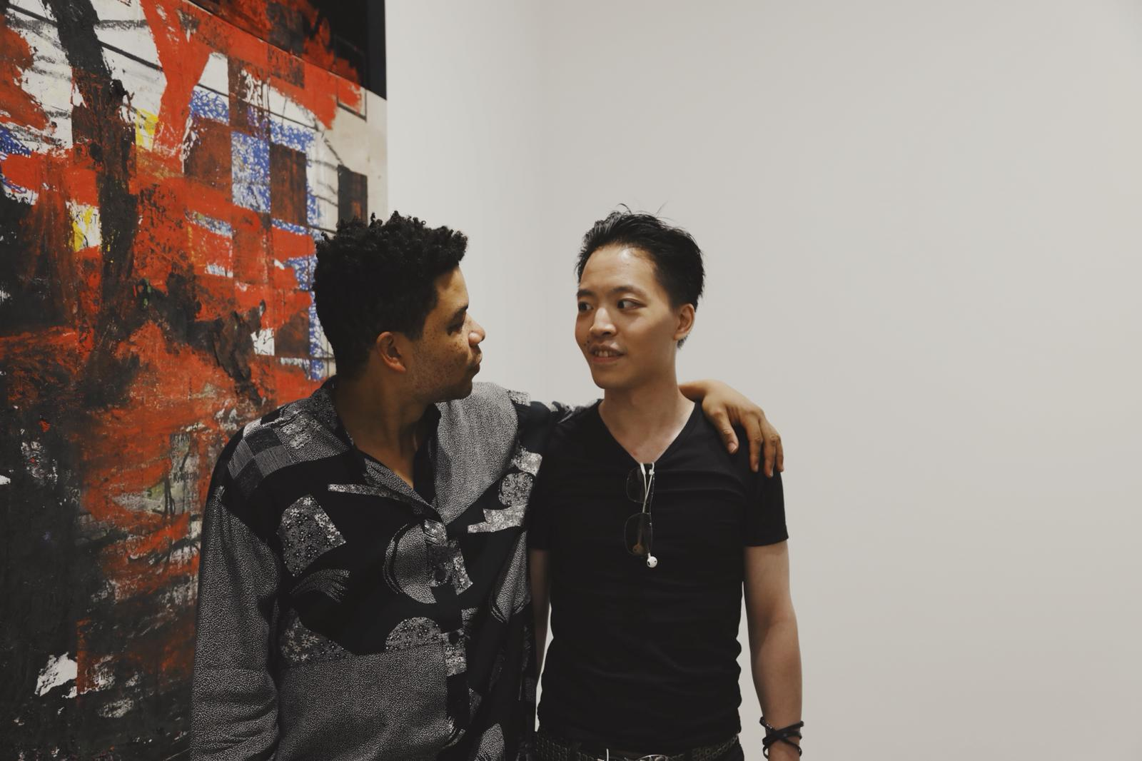 Michael Andrew Law Cheuk Yui ( 羅卓睿 ) and Oscar Murillo ( 奧斯卡·牟利羅 )